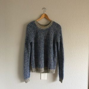 Abercrombie & Fitch Cozy Blue & Grey Sweater